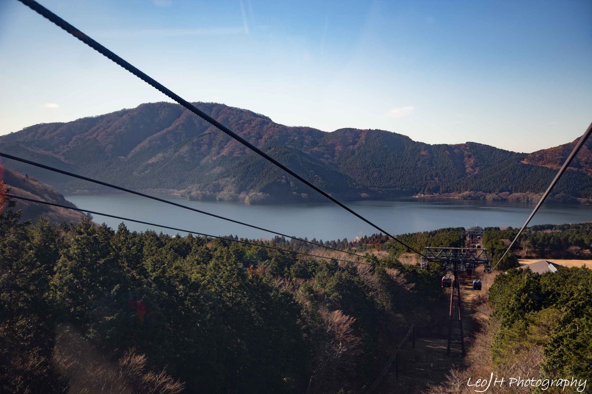 Ropeway down to Togendai Station with a wonderful view of the lake
