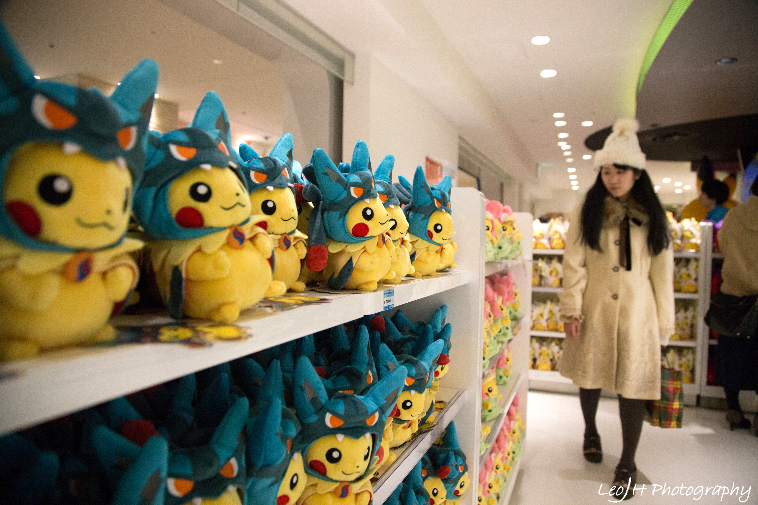 Loads and loads and loads of Pokemon merchandise on sale