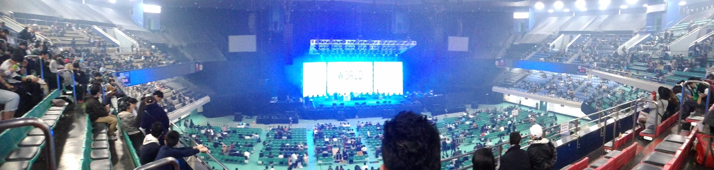 Panoramic view of the Budokan interior from my seat. Great view all around.