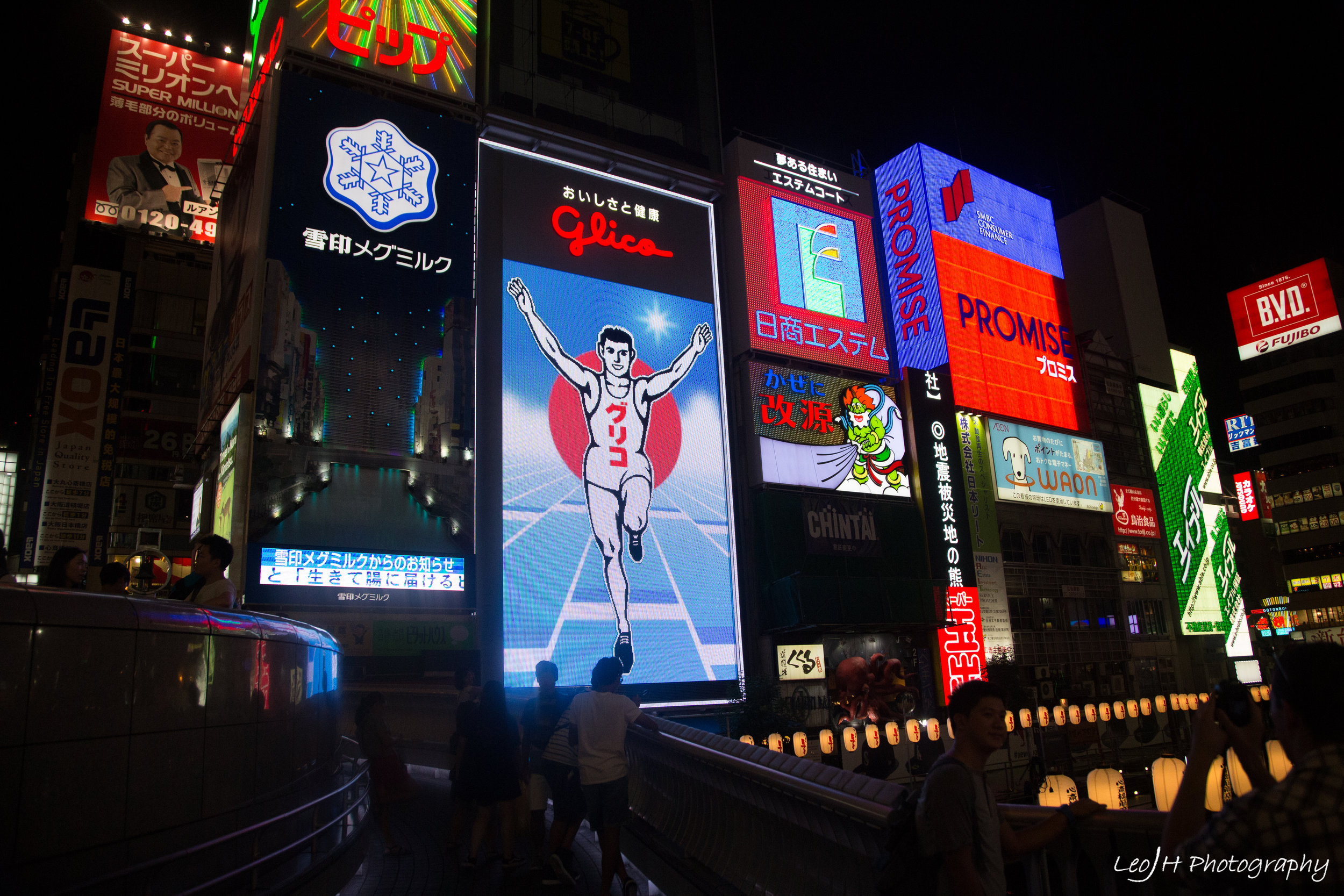 The famous Glico sign. And everyone around the area imitating it