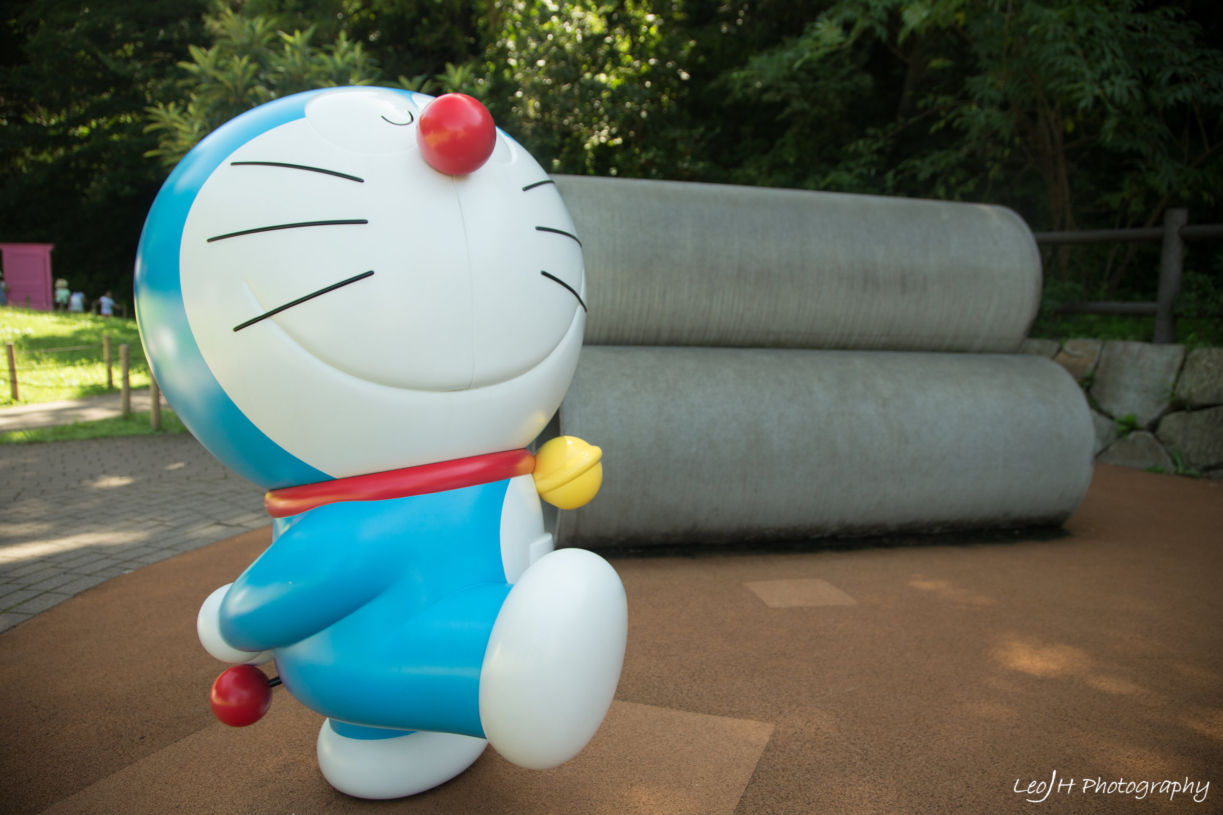 The rare occasion that the playground was empty. Doraemon's nose looks strangely too big