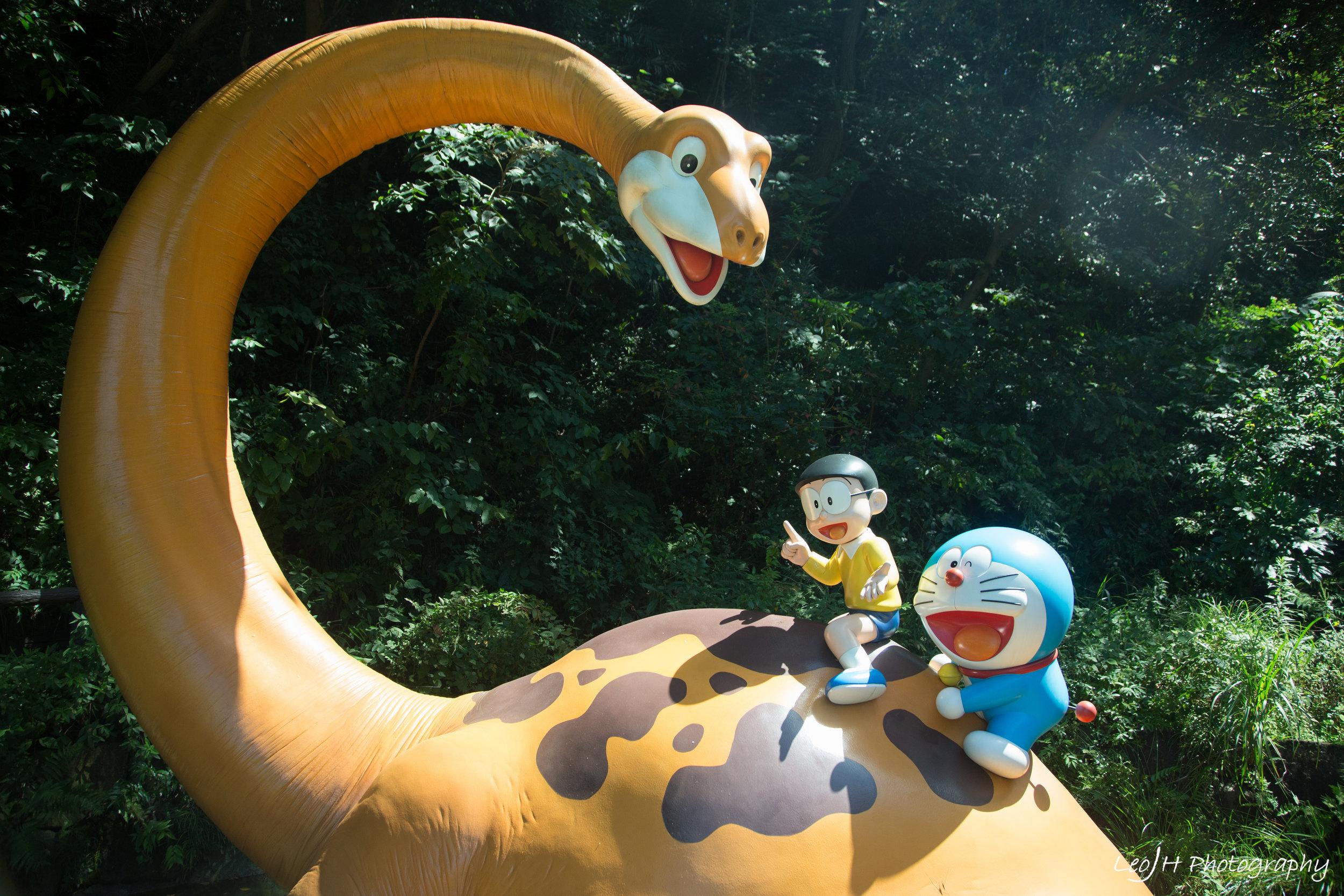 Doraemon and Nobita in dino land