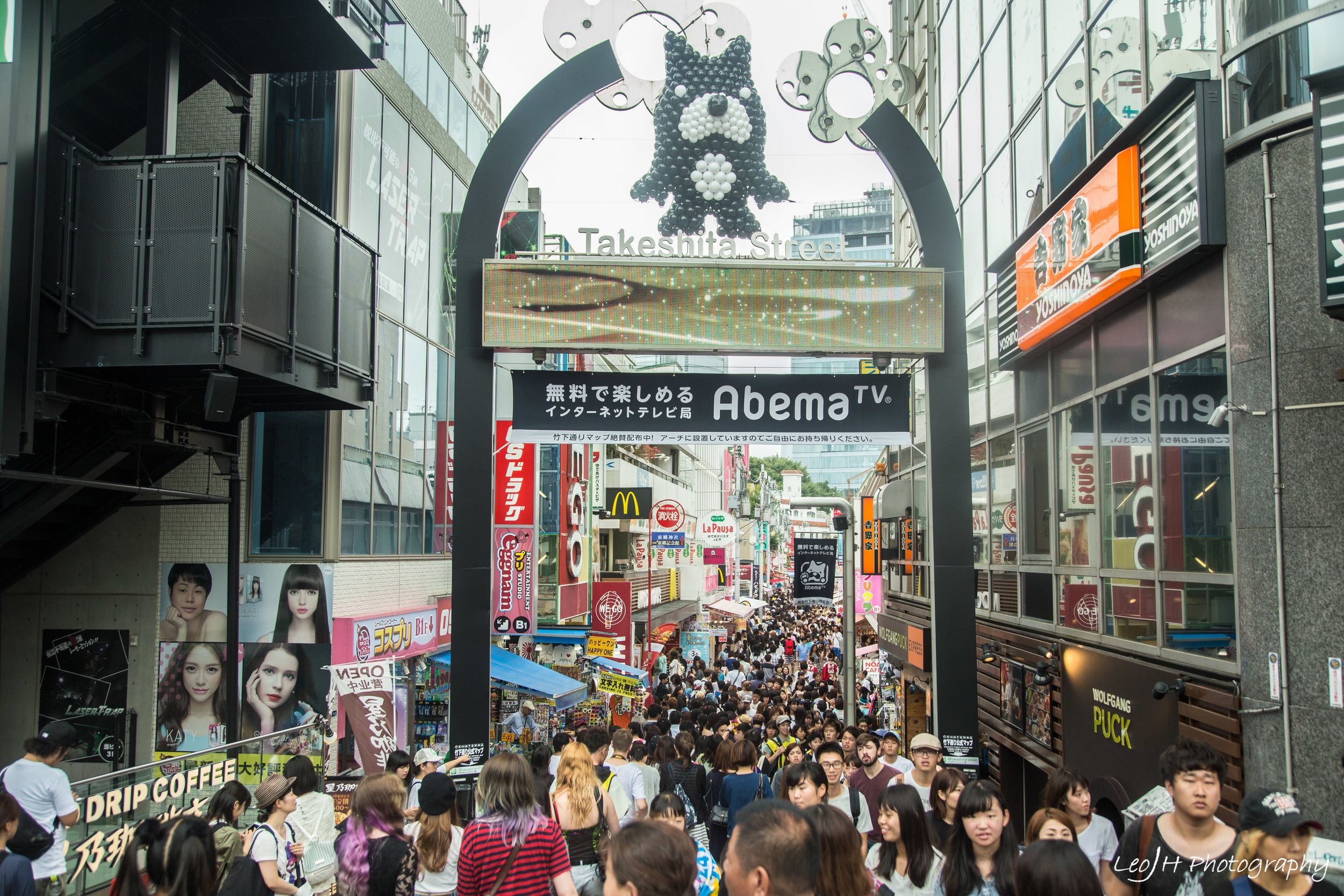 Harajuku's Takeshita Street. Was it a good idea to visit on a Sunday?
