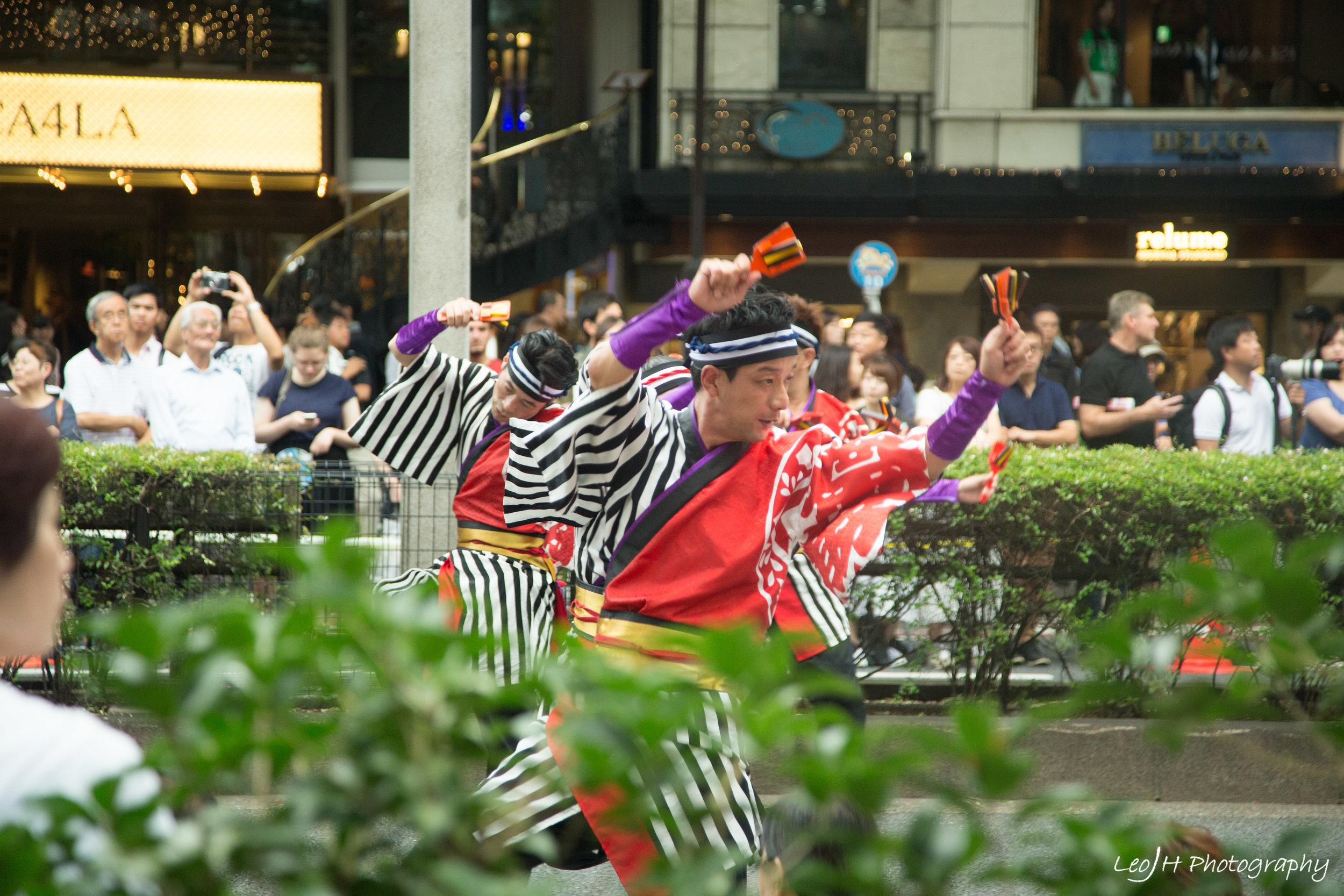 Harajuku Omotesando Genki Matsuri Super Yosakoi Festival. One of the many groups performing