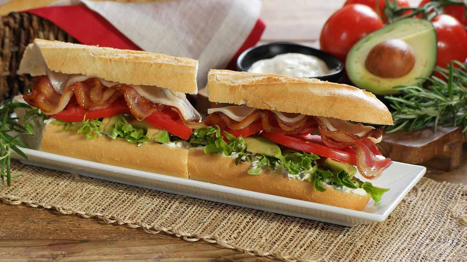 Handcrafted bistro sandwiches