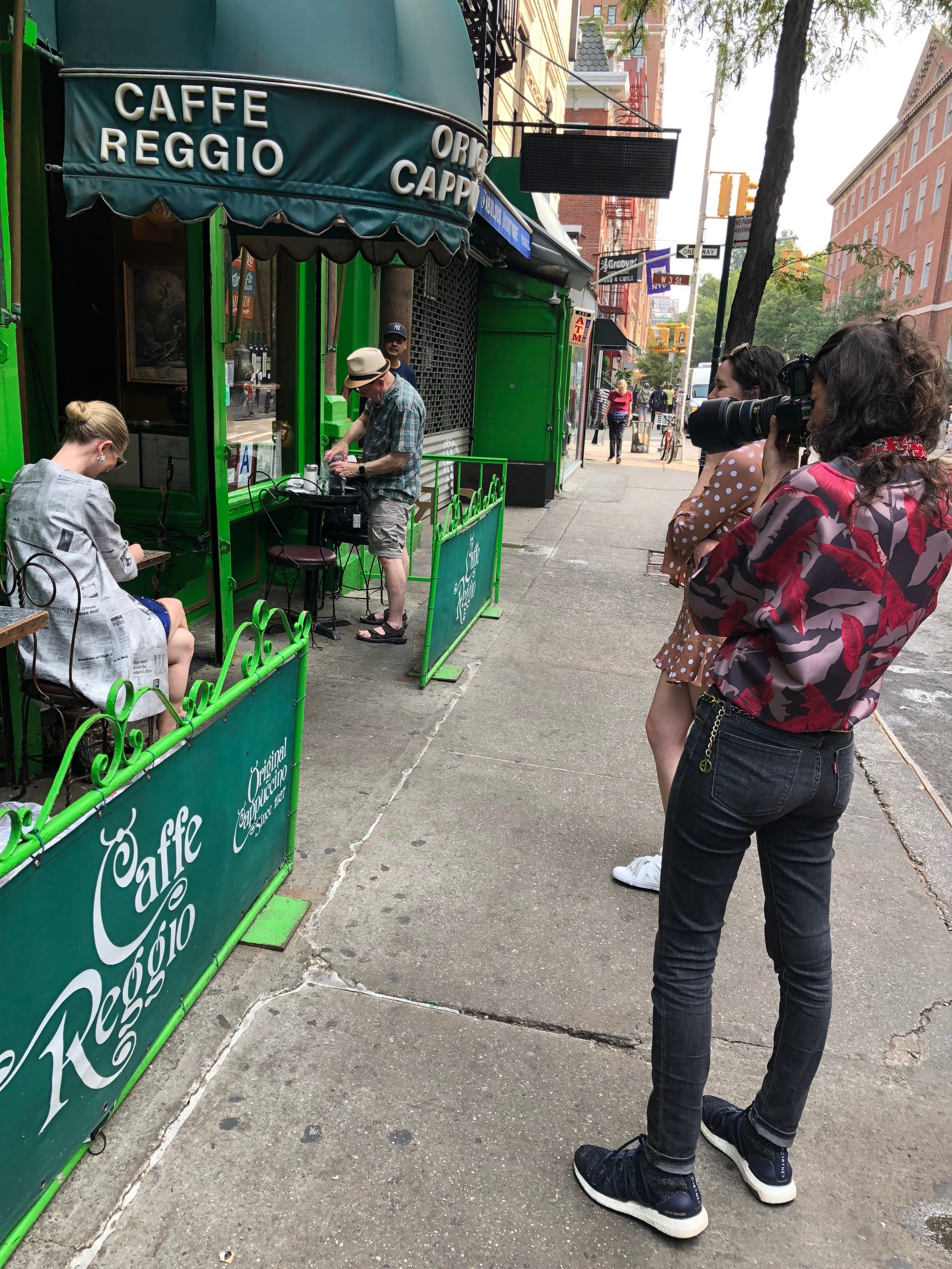 Shooting outside legendary Caffe Reggio