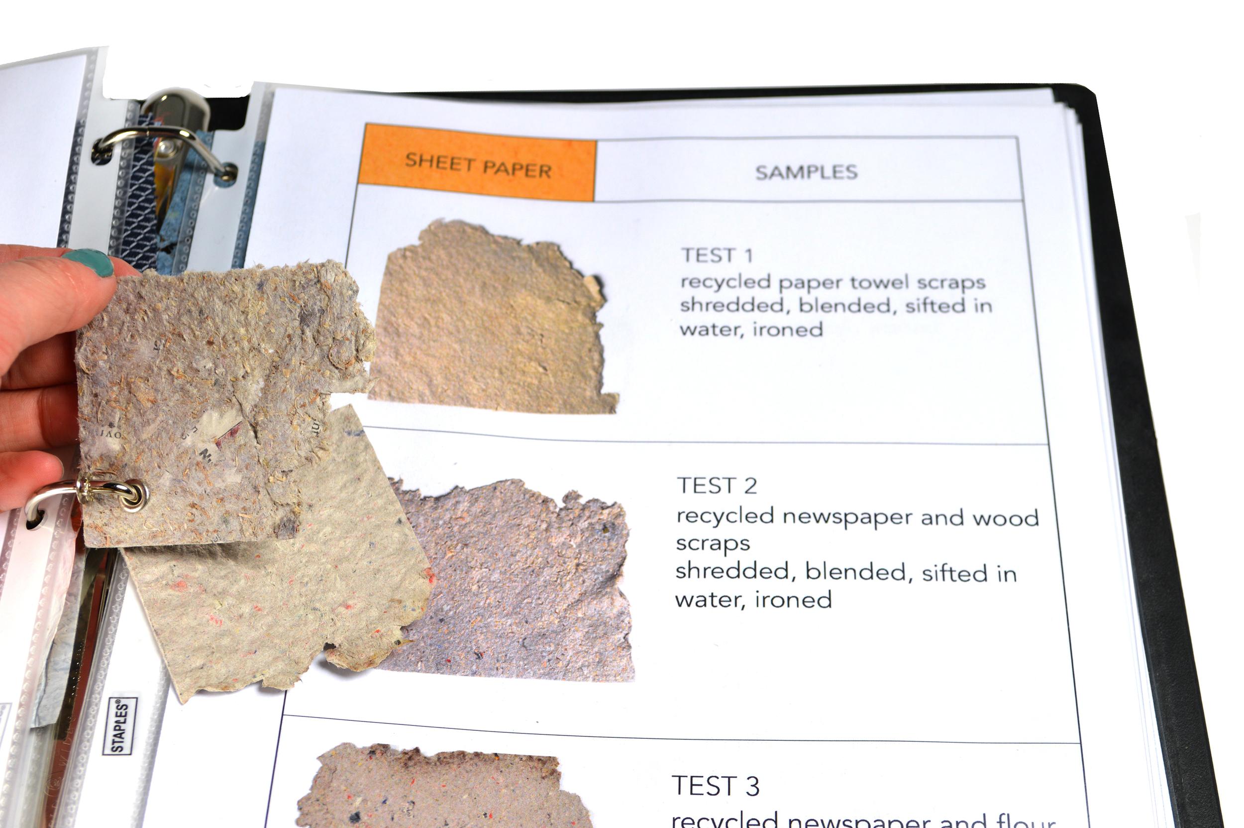 material sample in binder