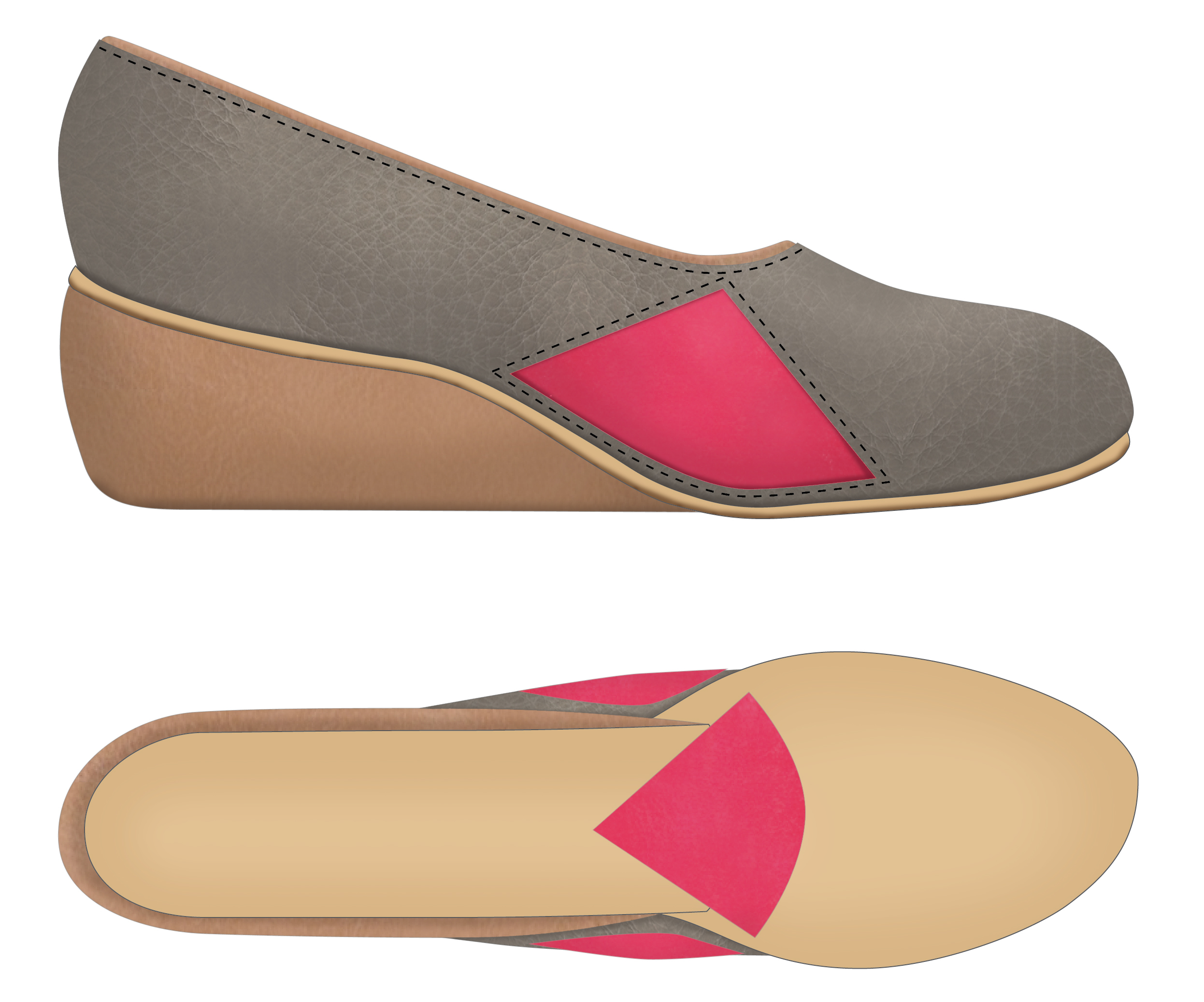 lateral/outsole rendering