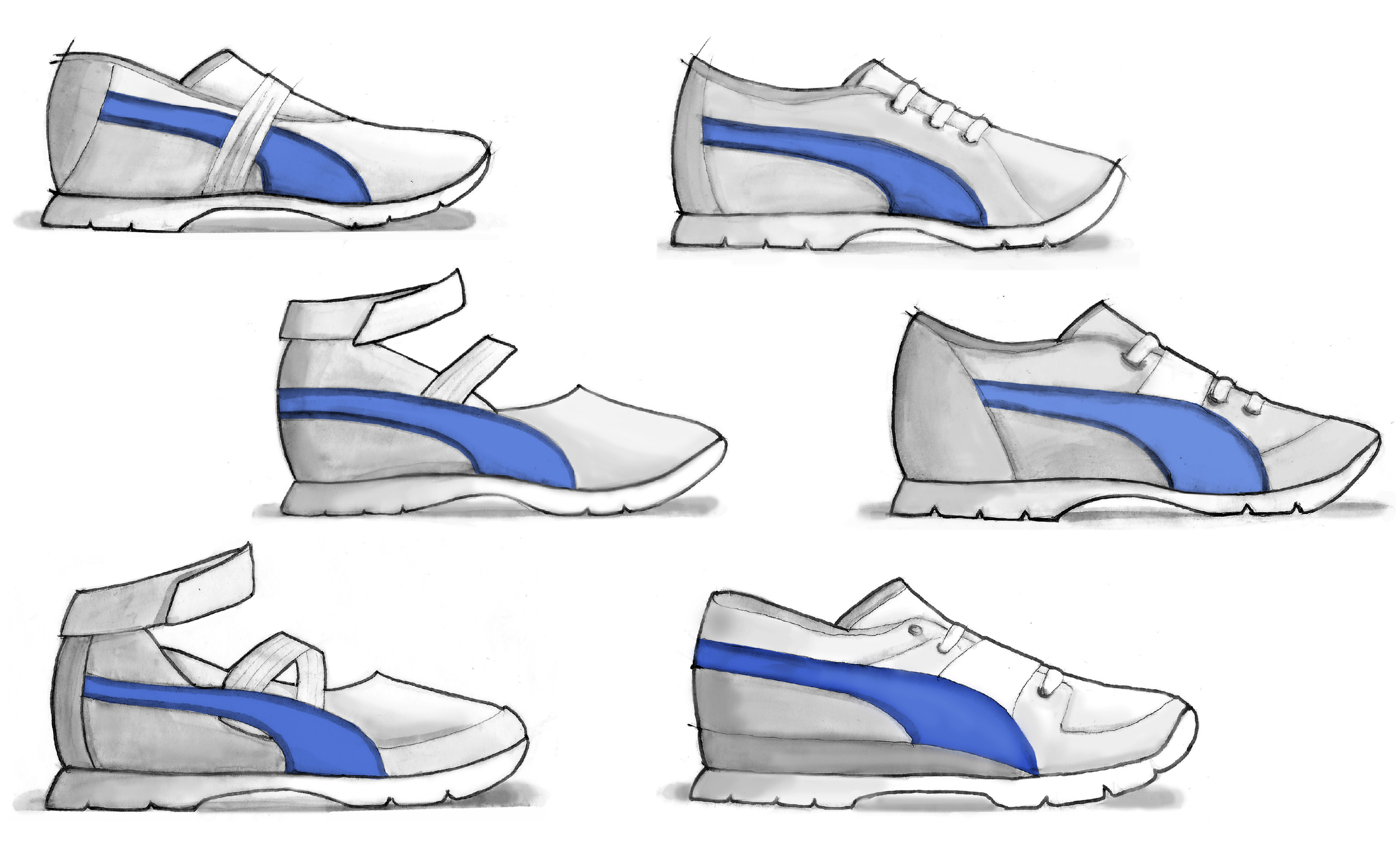 a water sandal for girls (left column) and a versatile sneaker (right column)