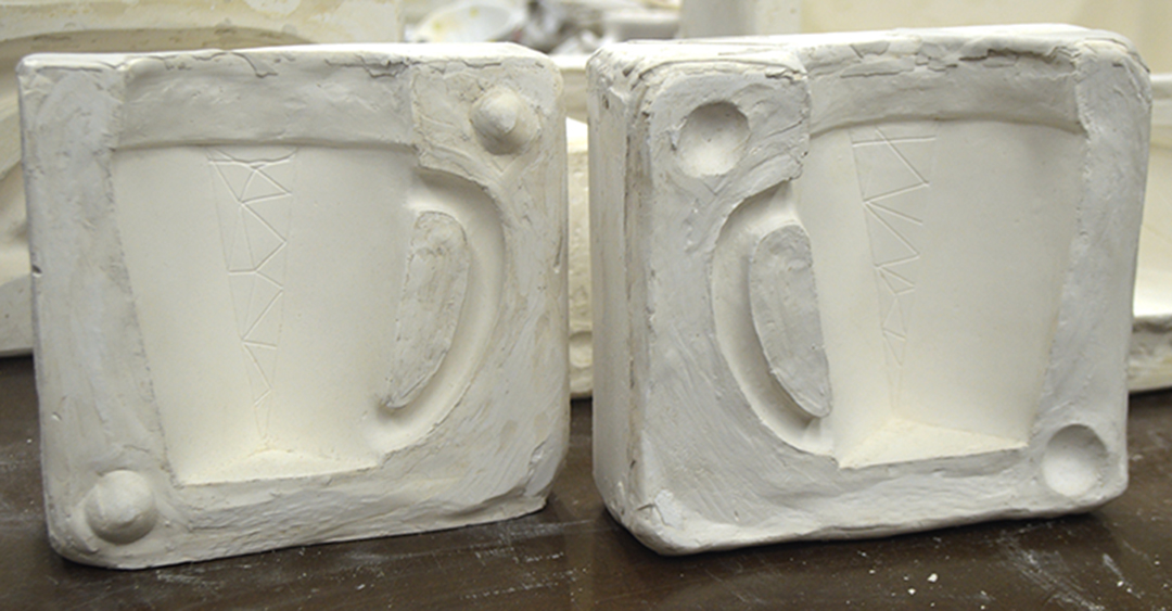2-part plaster mold