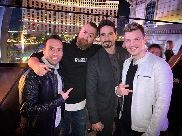 When work friends turn into life long friends! Just wait till you hear what we've been working on @backstreetboys #backstreetboys #bsbvegas #bsb #chateaunightclub #vegas