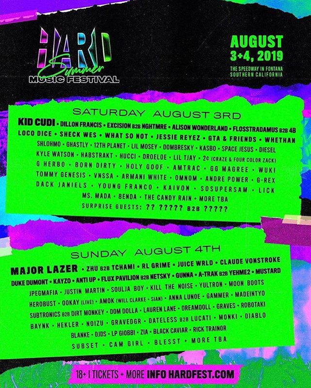 Excited to come back home for @hardfest w/ @shaq @djdiesel