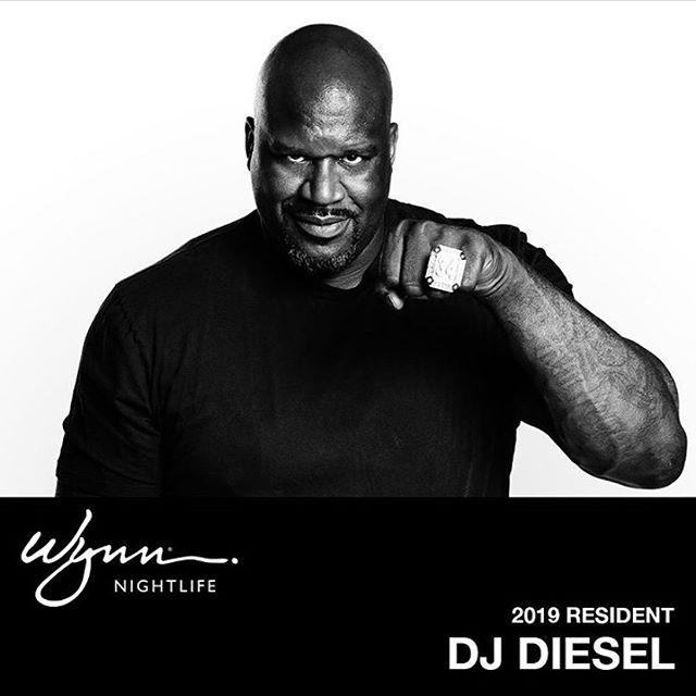 The diesel is coming... you little bitch. @wynnlasvegas @djdiesel @shaq