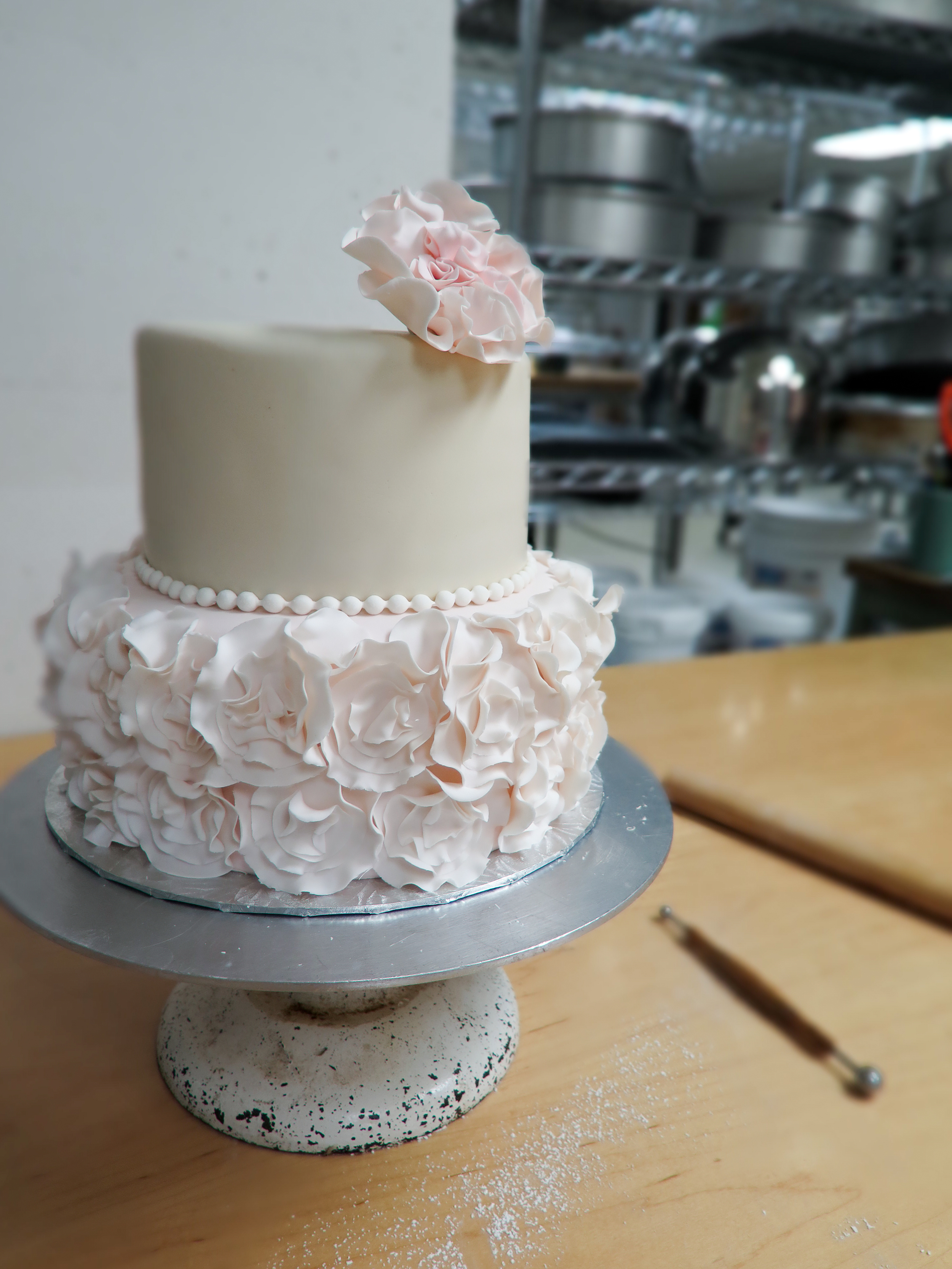 Girly Pink Ruffle Cake