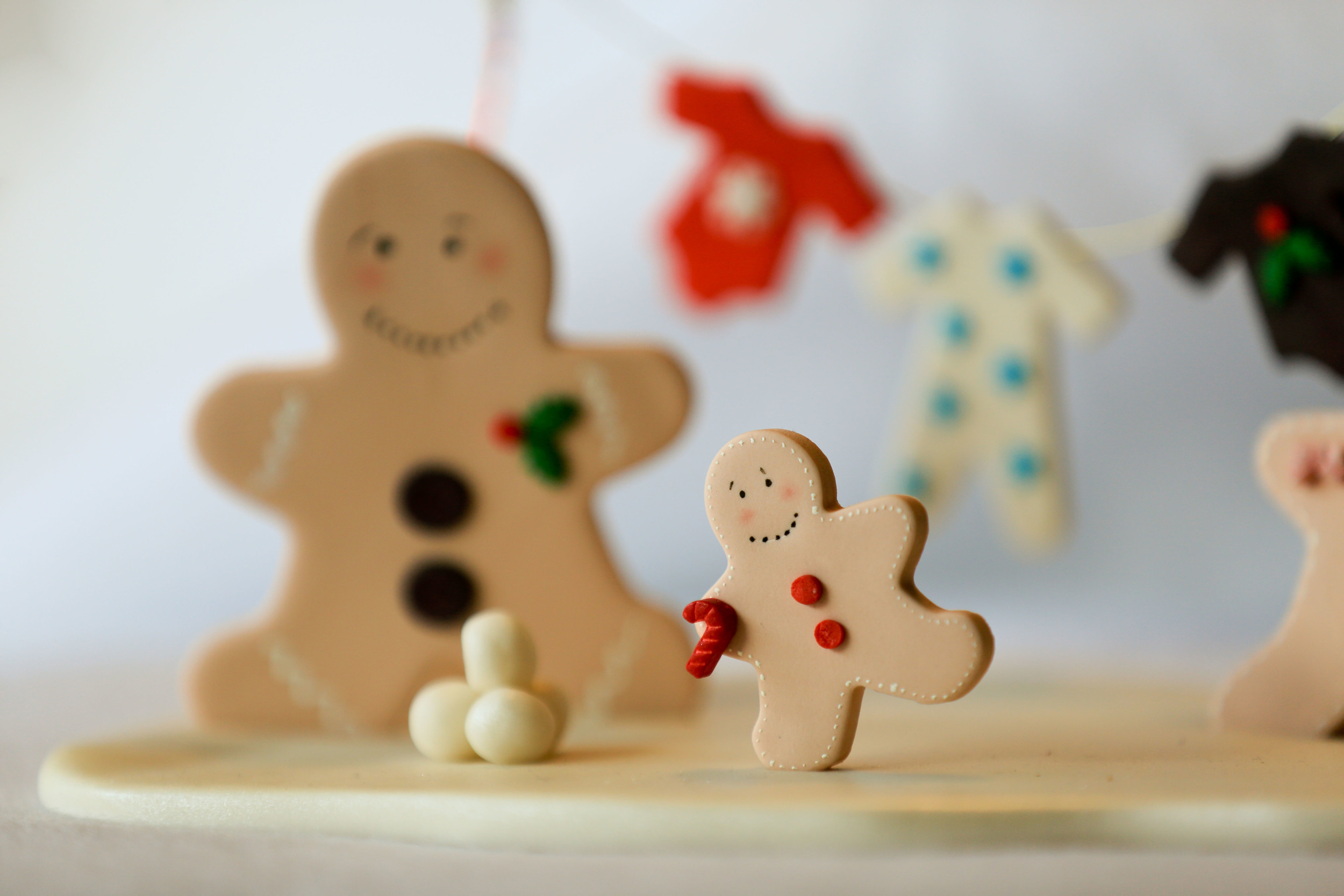 Christmas Gingerbread Cake Topper