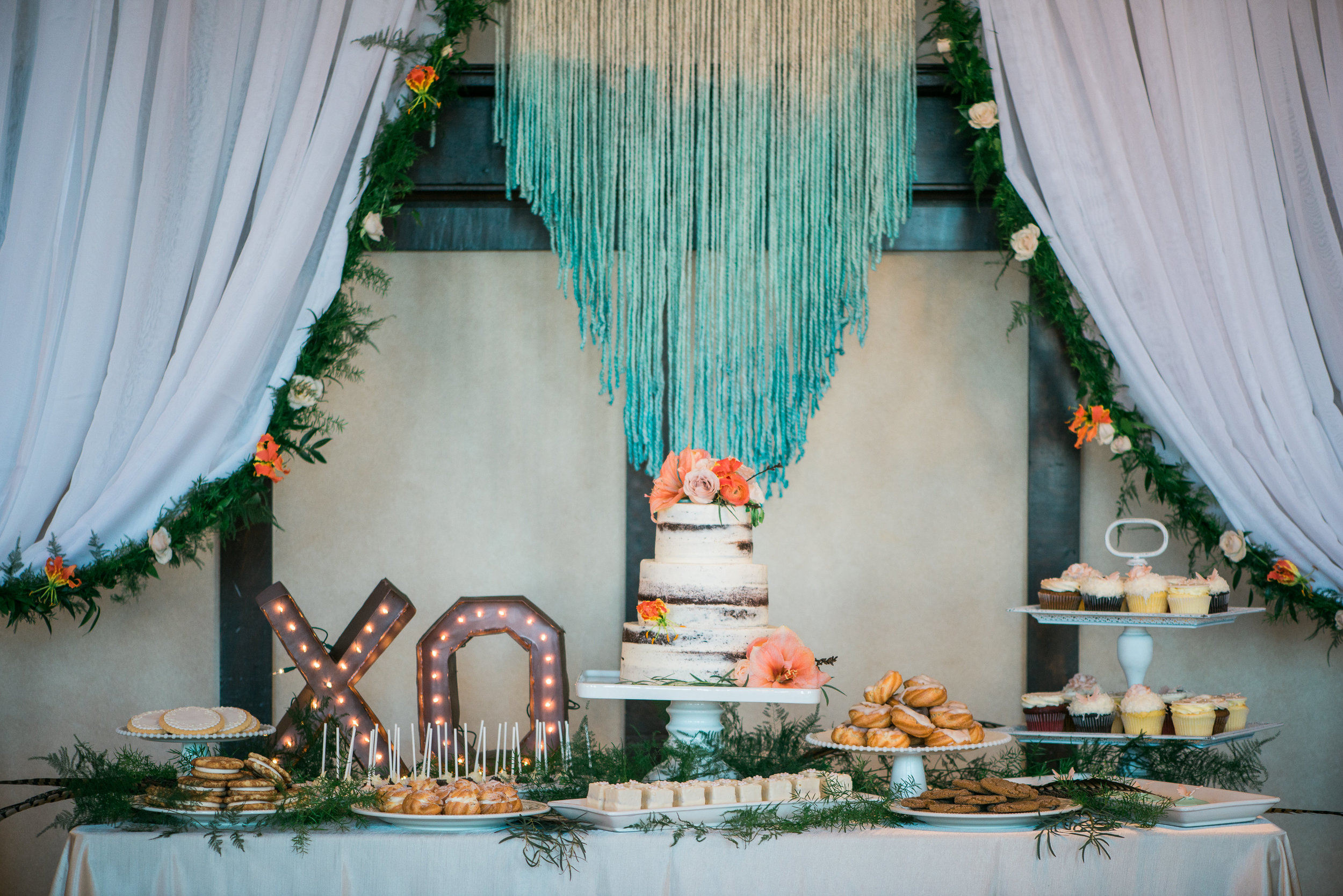 Boho Dessert Table Spring Wedding