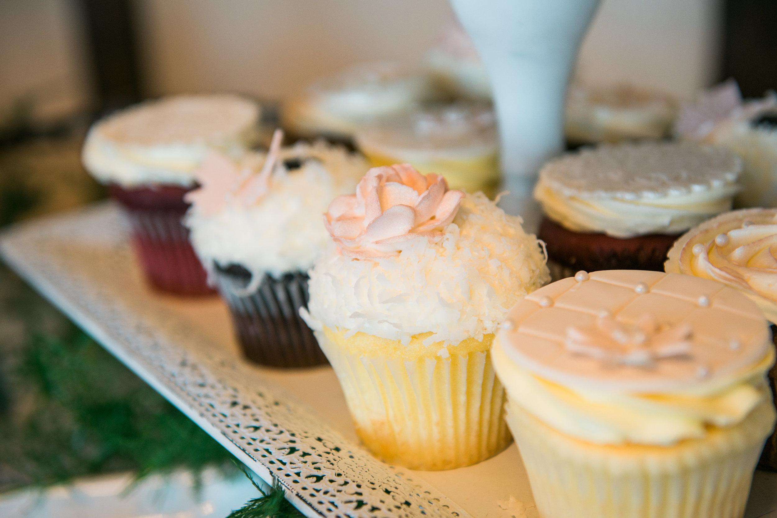Pretty Spring Wedding Cupcakes