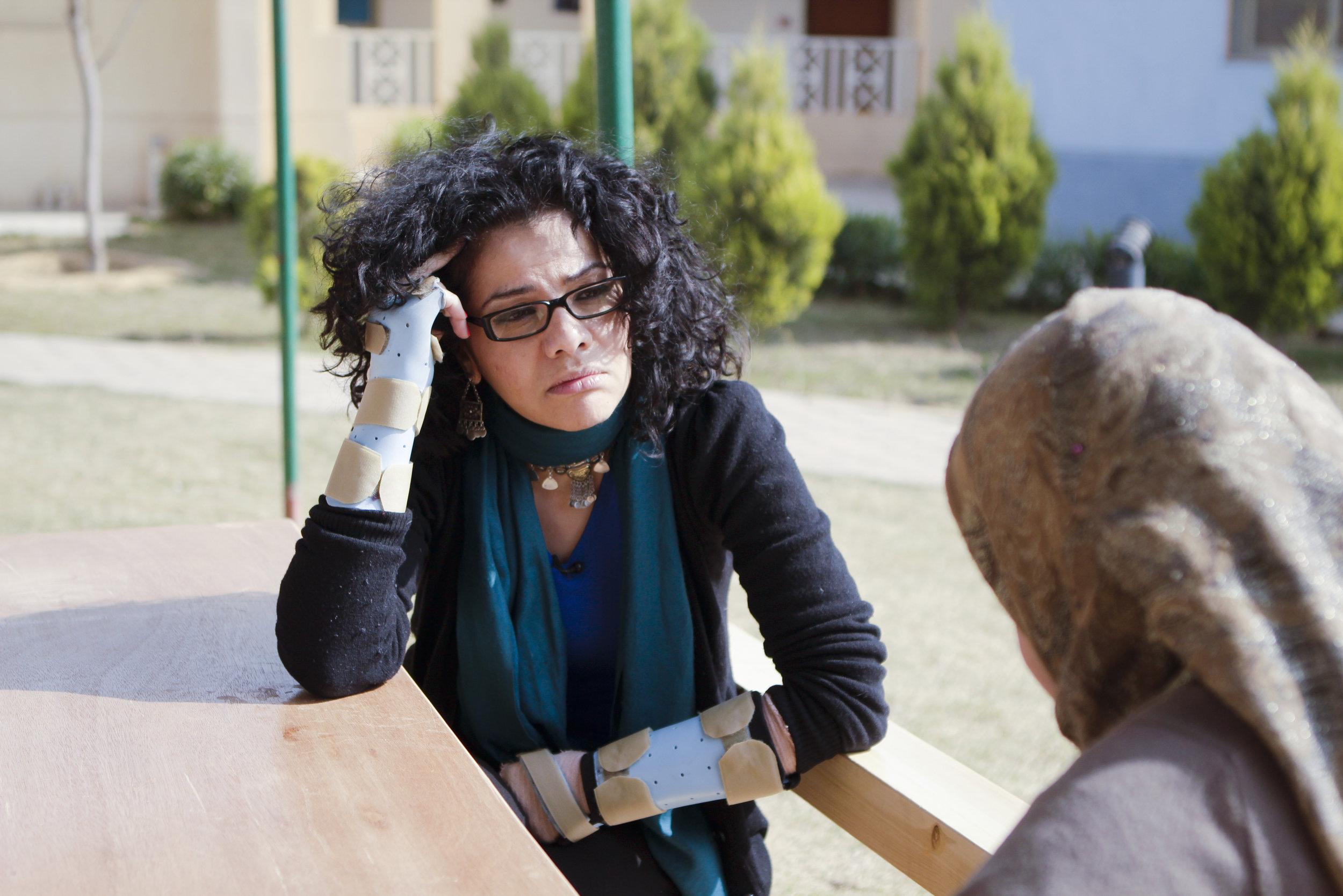Mona Eltahawy and Yasmin.