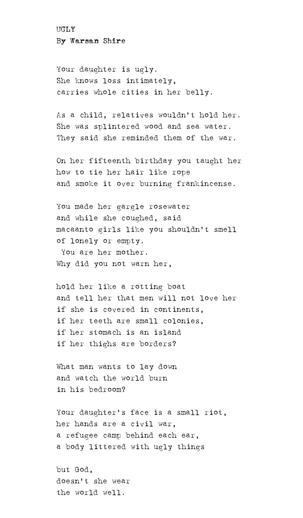 Poems to tell a girl shes beautiful
