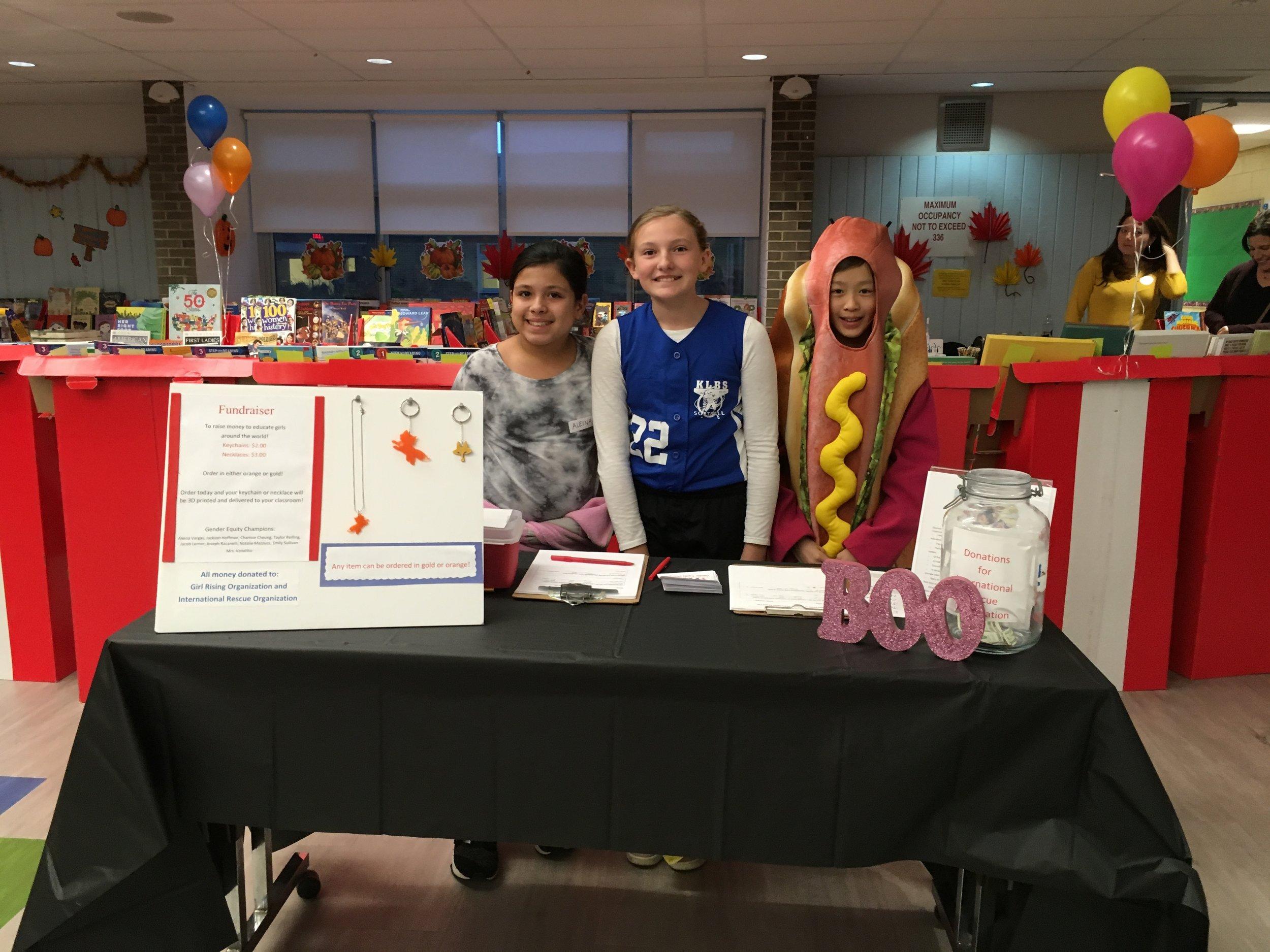 Fundraising at Halloween Social.JPG