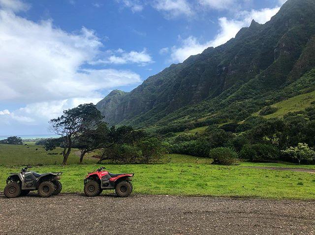 ATV Riding at Jurassic Park - @i.ammaj #hawaii #aloha #atv @kualoaranch #kualoaranch
