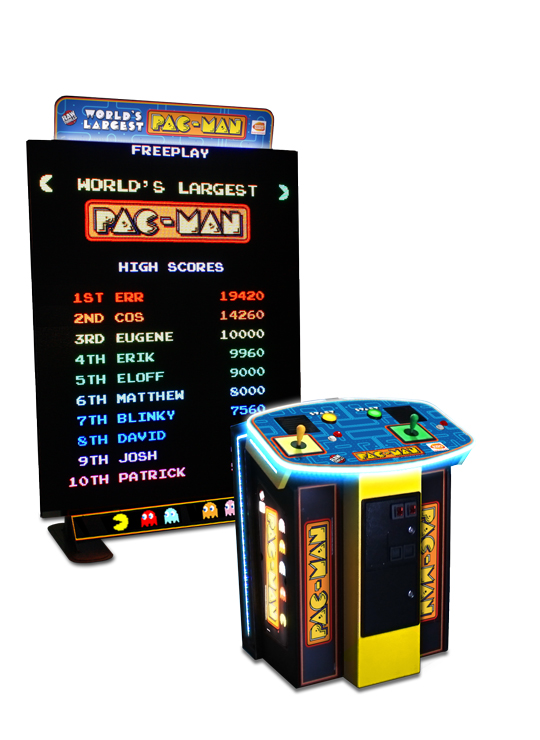 Worlds Largest Pacman  *Also plays Galaga