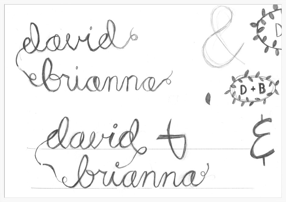 Hand Lettered sketches