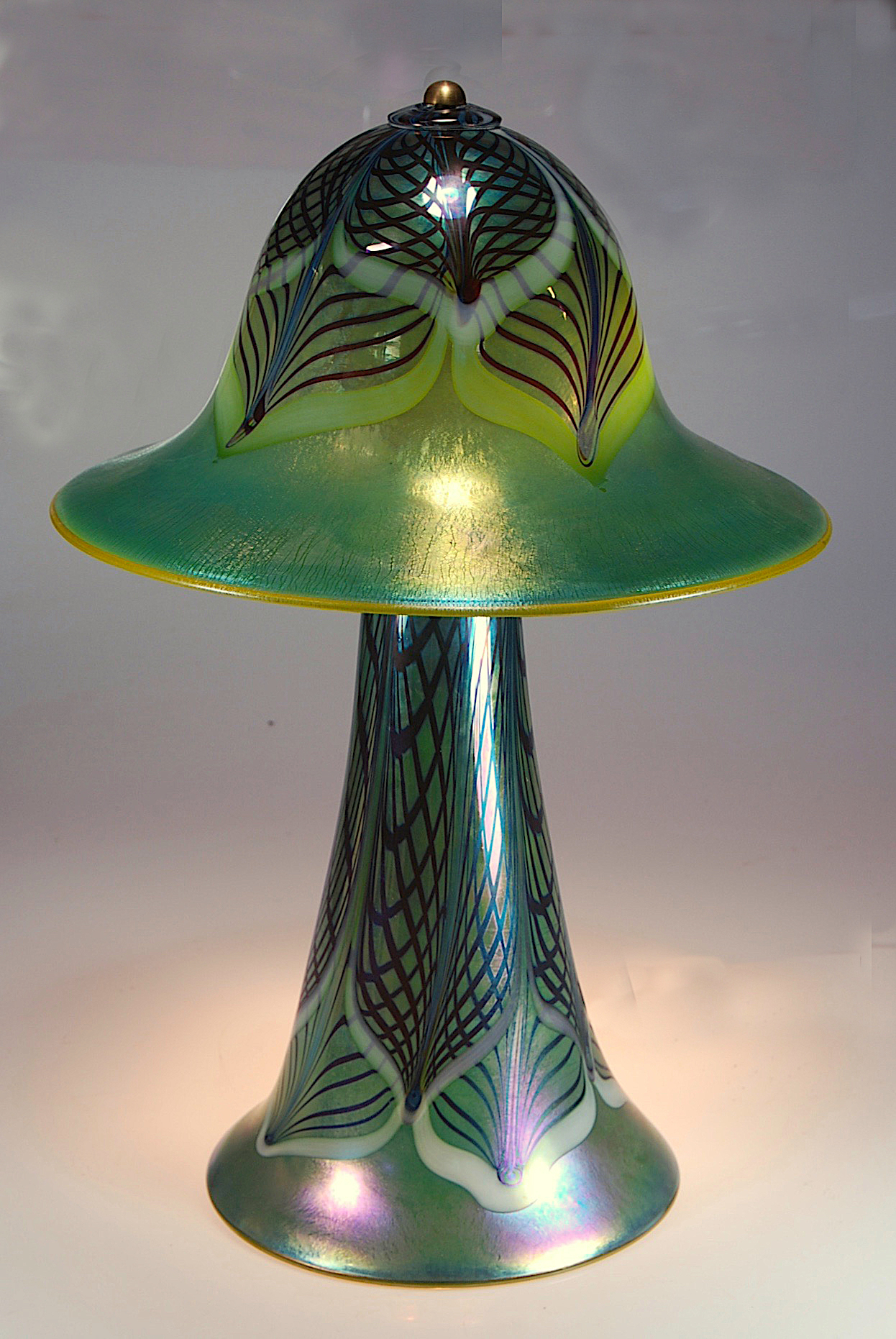 Moss Luster,  Double Decorated lace pattern,  Table Lamp  2018  rick strini