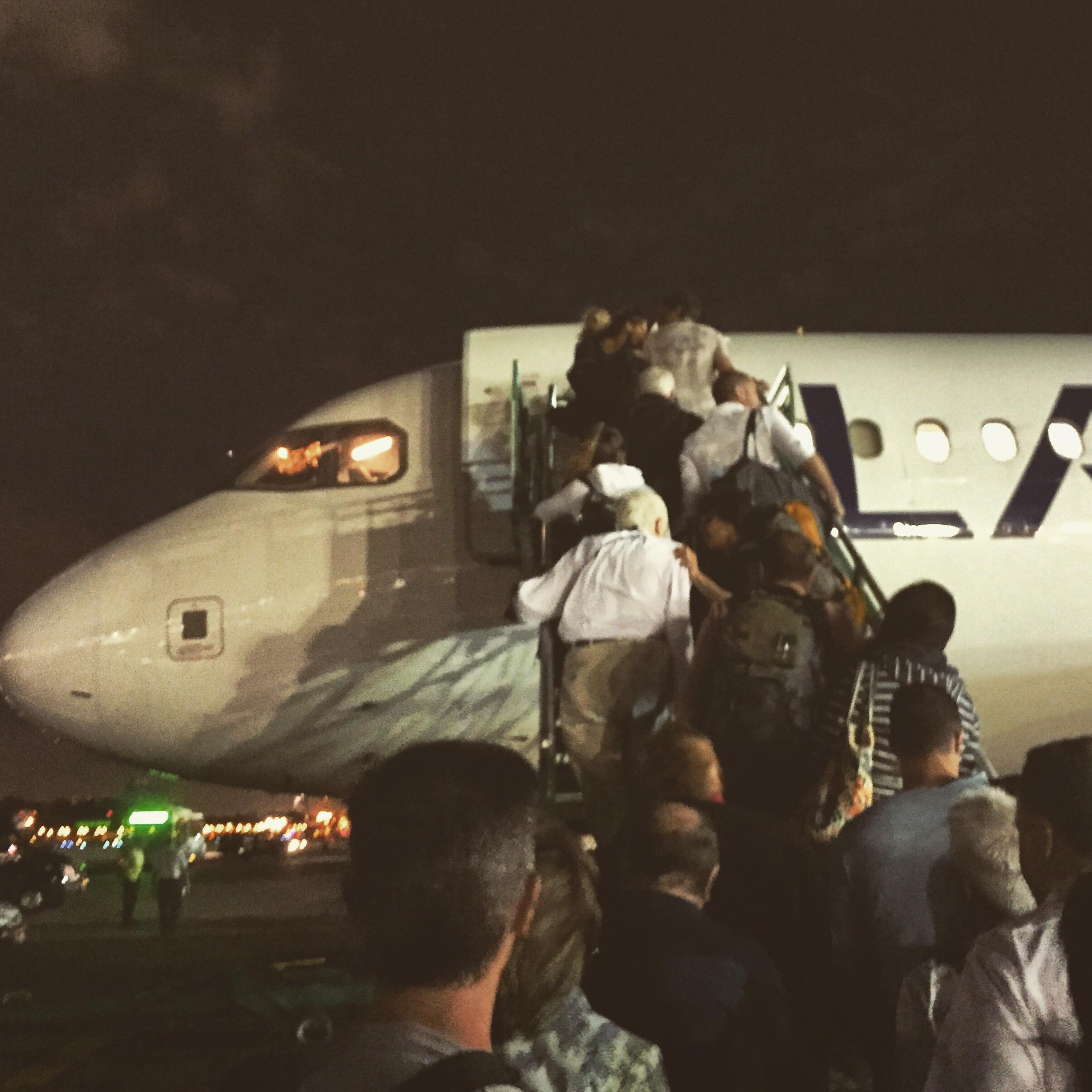 Boarding my flight bound for Bariloche.