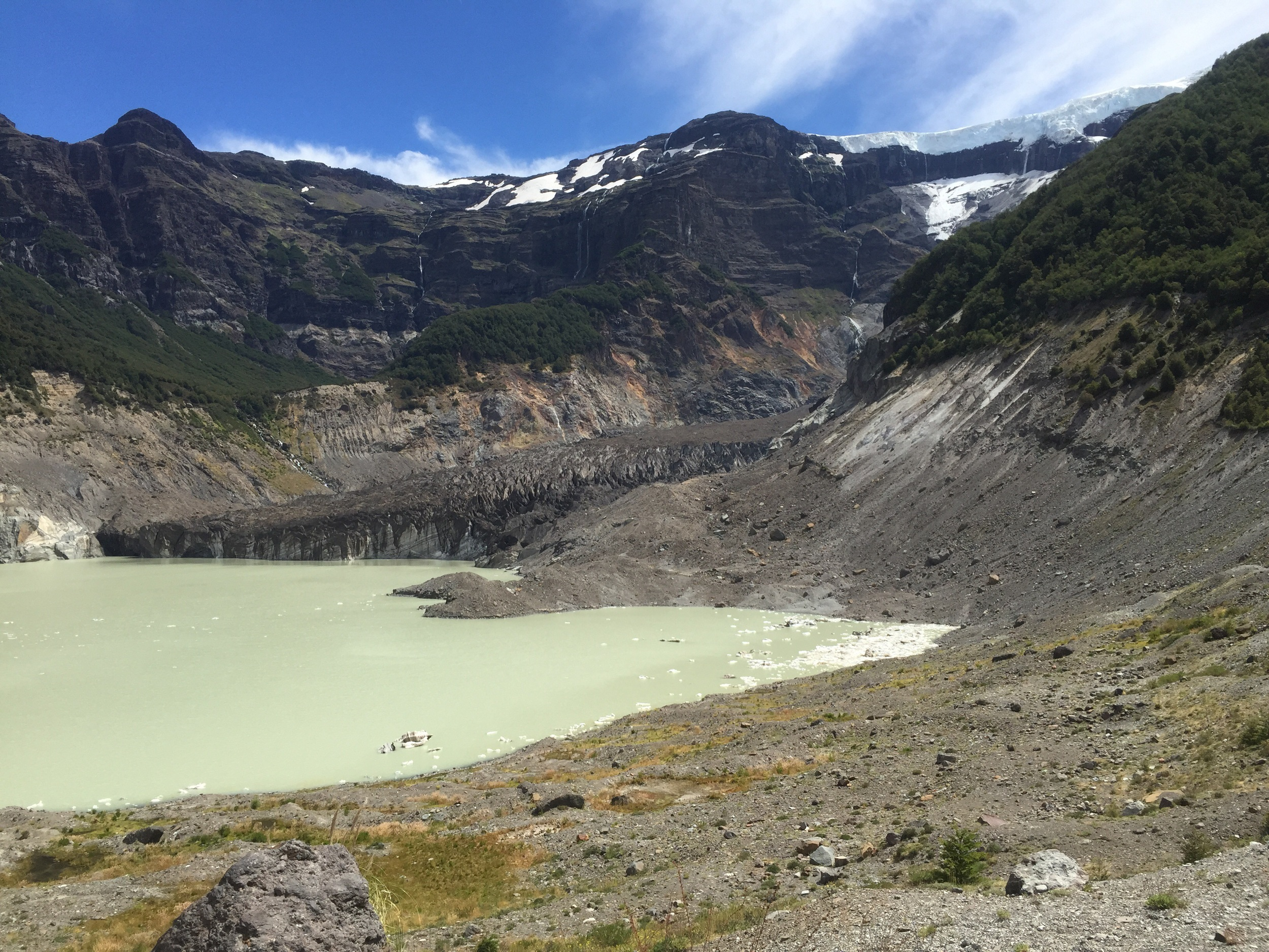 The Black Glacier and its melt lagoon.