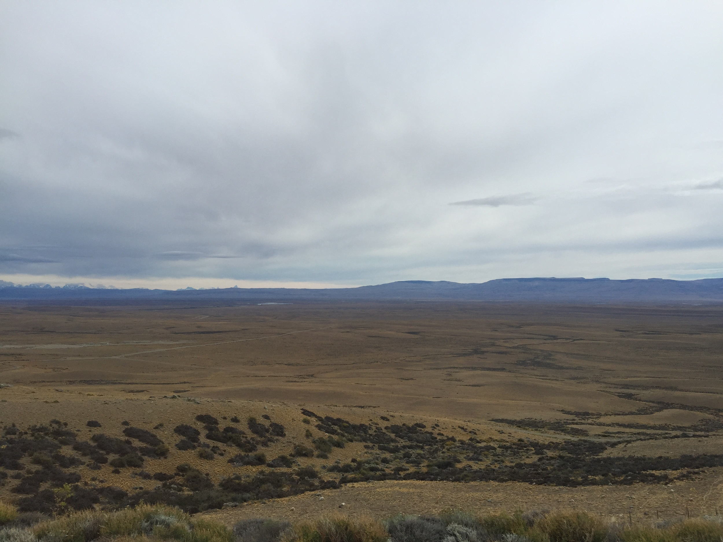 Crossing the steppe to El Calafate.