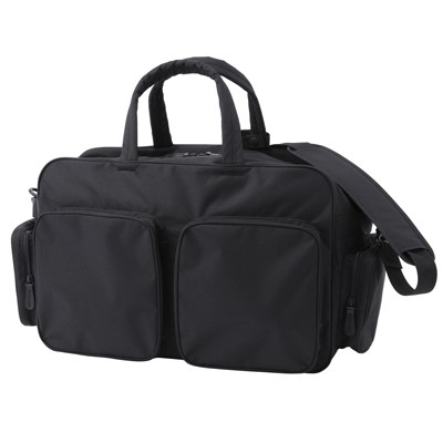 My current travel bag of choice, the Water Repellent Polyester Boston Bag, Large. Its the best travel bag for my type of travel.  Image courtesy of Muji (muji.us)