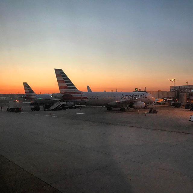 Morning takeoff.
