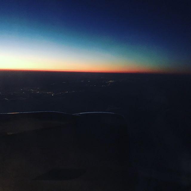 Sunset takeoff.