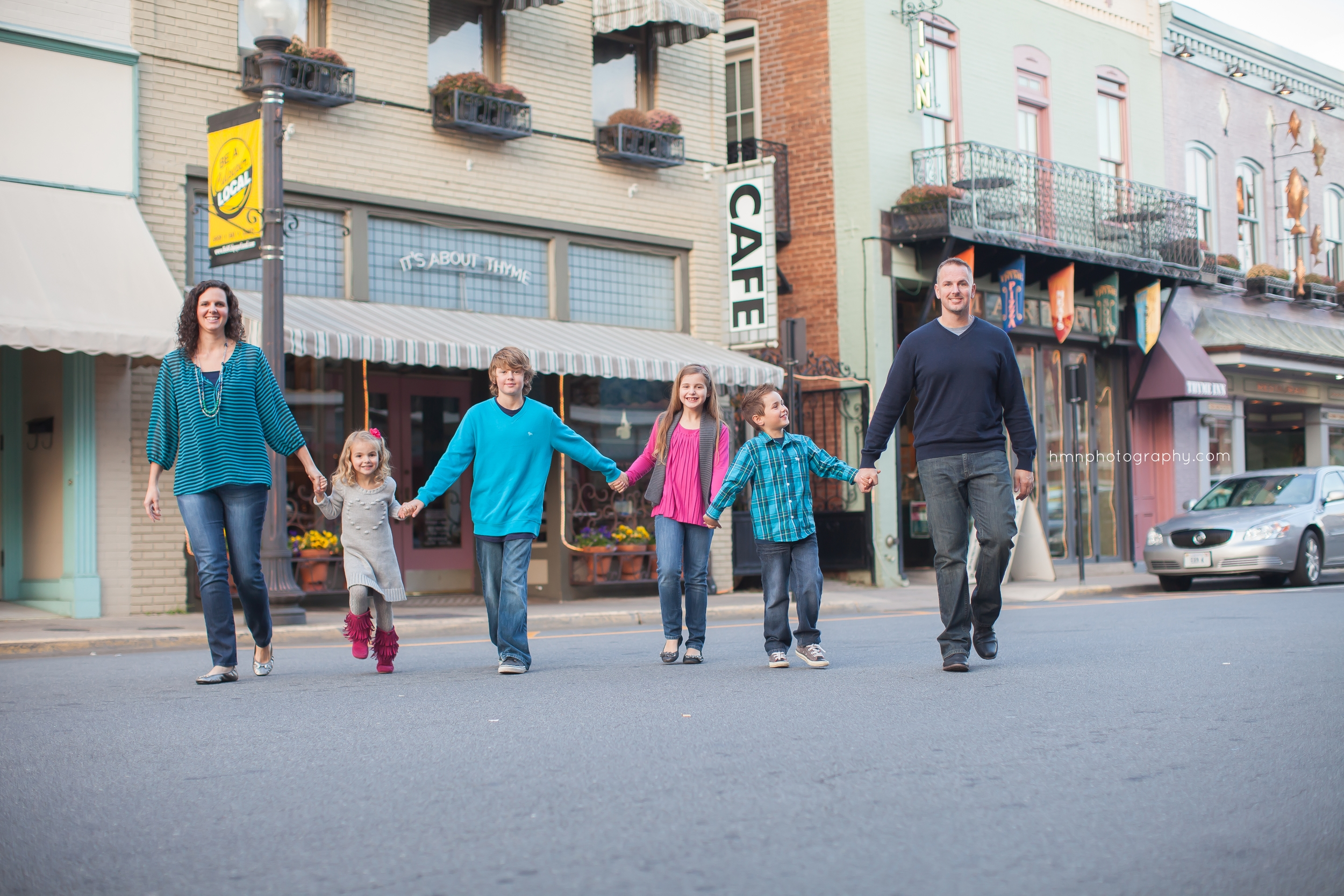 Downtown Culpeper Family Photography