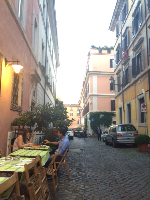 The restaurant Da Olindo
