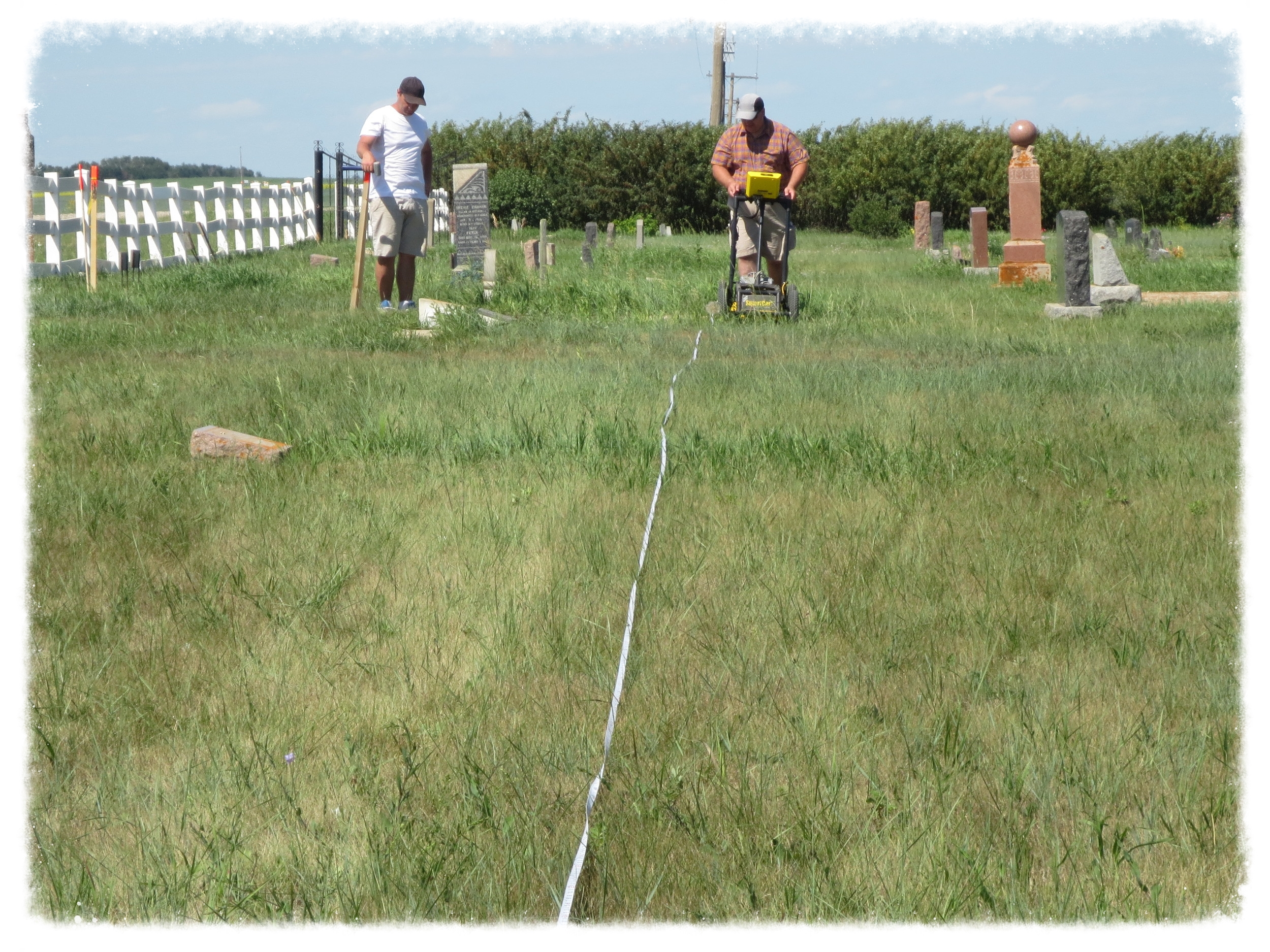 Identifying unmarked graves using a Ground Penetrating Radar.