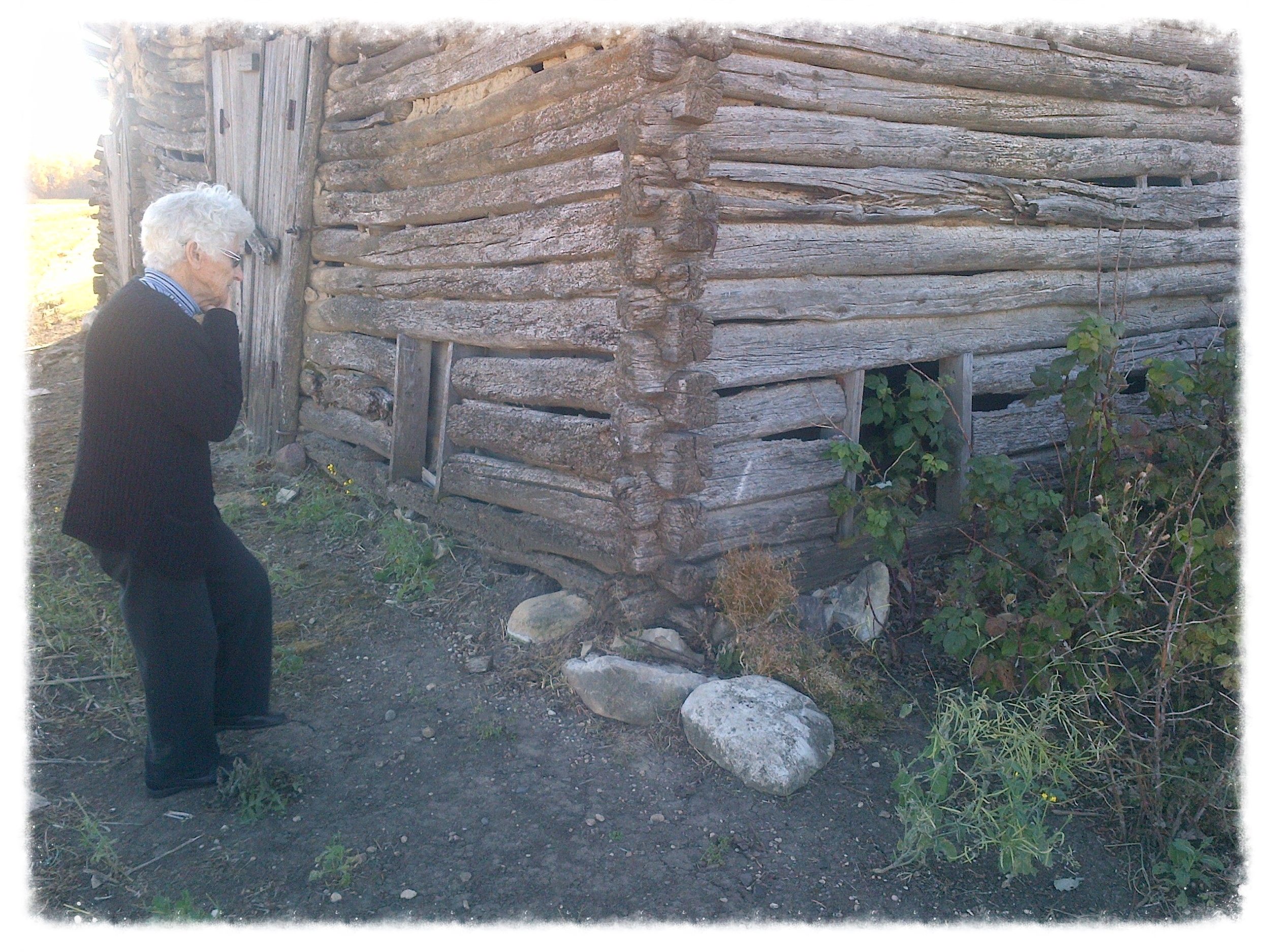 Documenting oral history of a homestead.