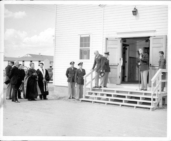 Chapel dedication at Davis-Monthan Field WW2
