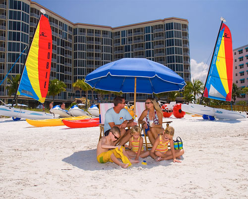 Fort Myers Beach Chair and Umbrellas