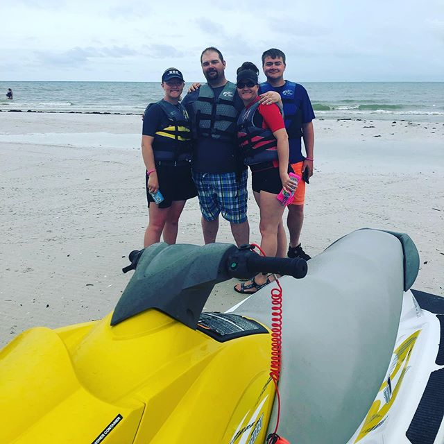 What a great way to celebrate Father's Day!! #dolphintour #waverunner #fathersday #yolo #getohtthere