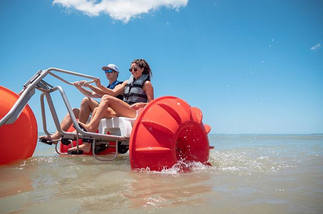 Ever been on an Aqua Bike? Come on in and check it out, just one of the unique activities that we offer!