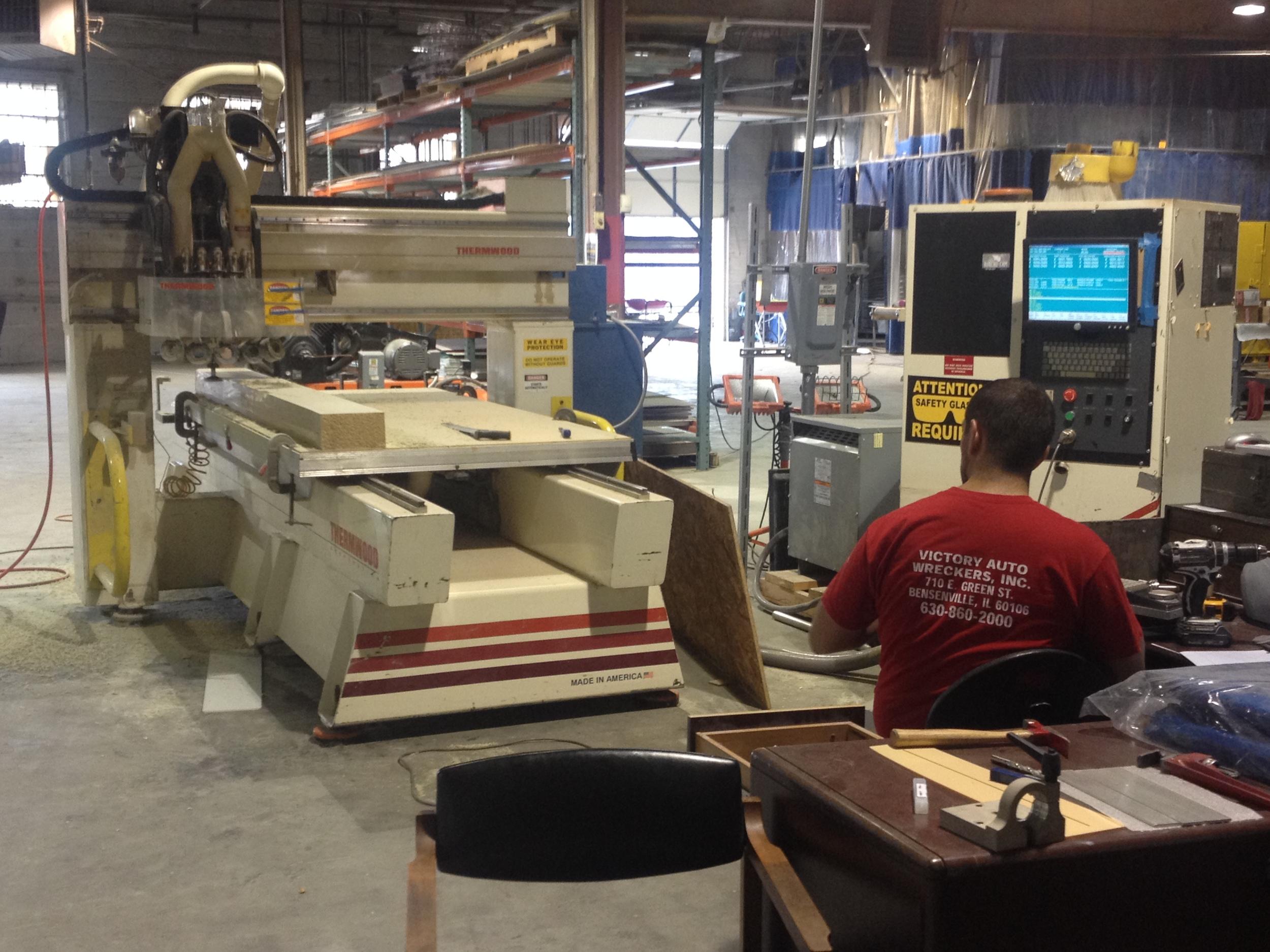 Custom CNC work for Fiberworks project