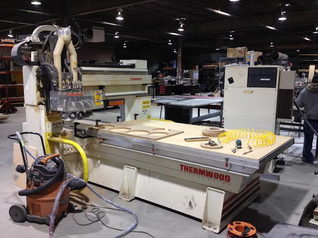 CST Sign & Manufacturing's Thermwood CNC Machine in Chicago.