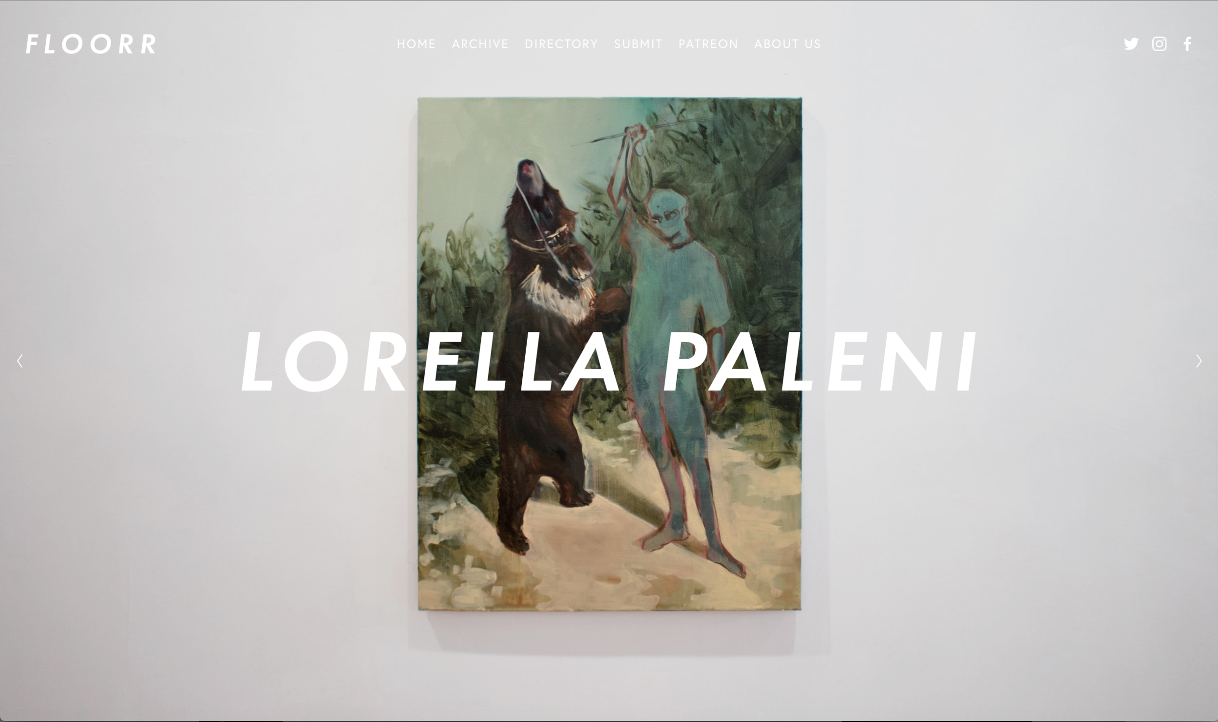 View full interview at https://www.floorrmagazine.com/issue-18/lorella-paleni