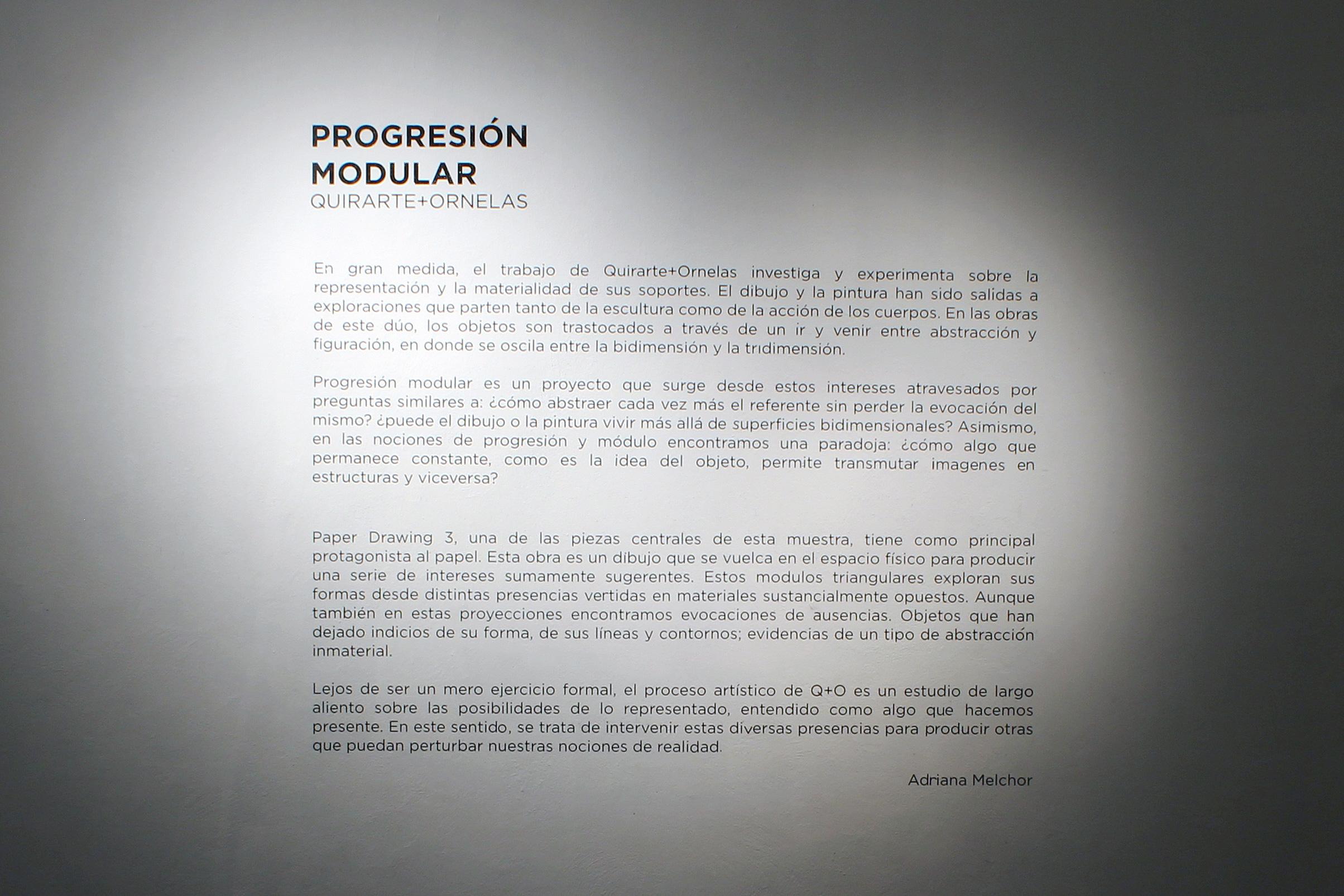 Quirarte + Ornelas / Progresión Modular