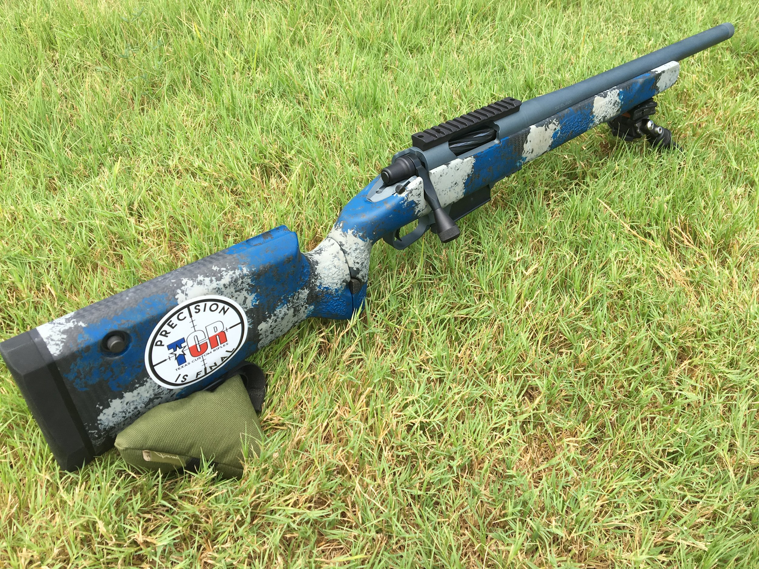 """308 WIN MATCH  STILLER TAC30, ROCK CREEK 18"""" BARREL, TIMNEY CALVIN ELITE TRIGGER, MANNERS EHF1 FOLDING STOCK, HAWKINS DBM W/ 5RD MAG, MUZZLE THREADED 5/8-24. BIPOD NOT INCLUDED BUT WE SELL ATLAS BIPODS.  THIS RIFLE WAS BUILT AS A DISPLAY. IT HAS LESS THAN 200 ROUNDS THROUGH IT AND HOLDS 1/2 MOA WITH QUALITY FACTORY AMMO.  $3995 PLUS ANY TAXES AND SHIPPING REQUIRED."""