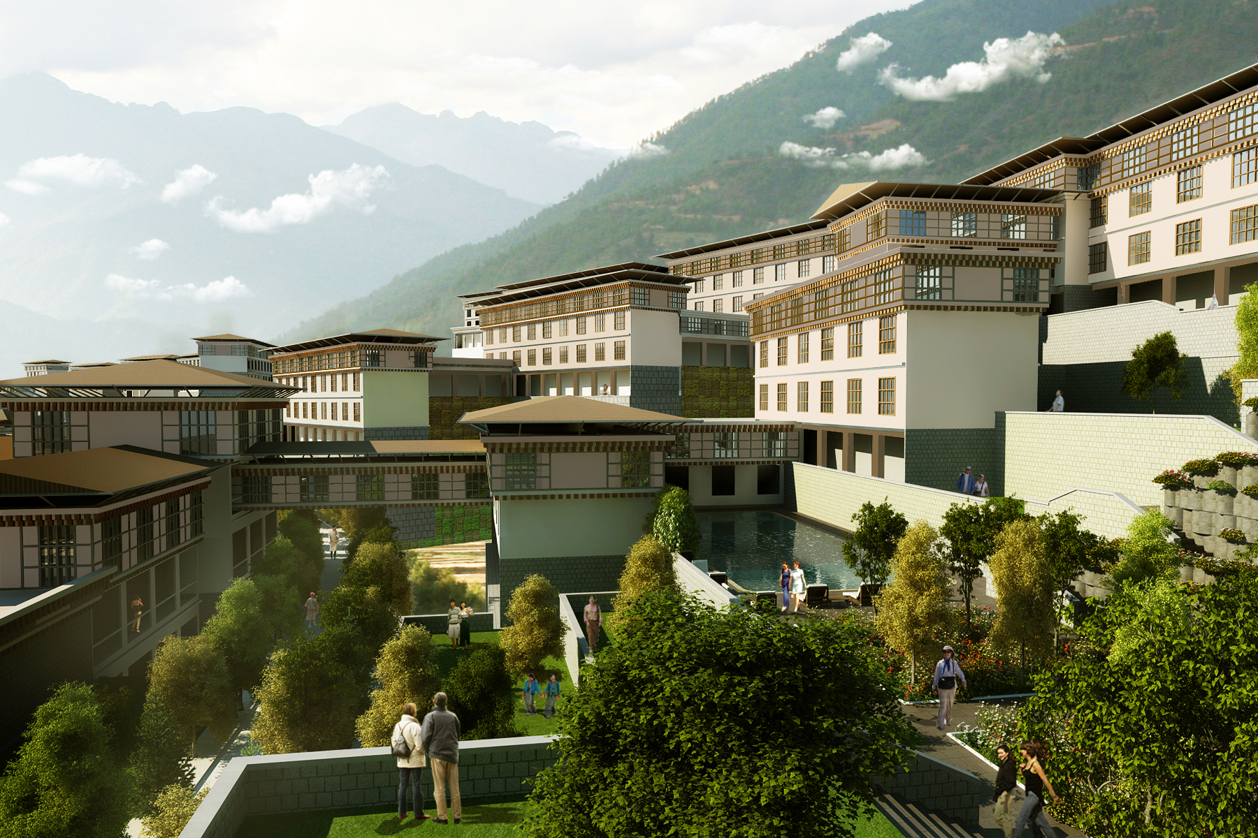 Bhutan Education City Rendering 1 - Plan A