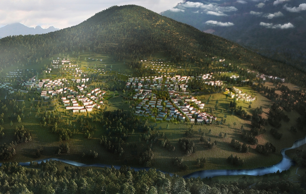 Bhutan Education City Rendering 2 - Plan A