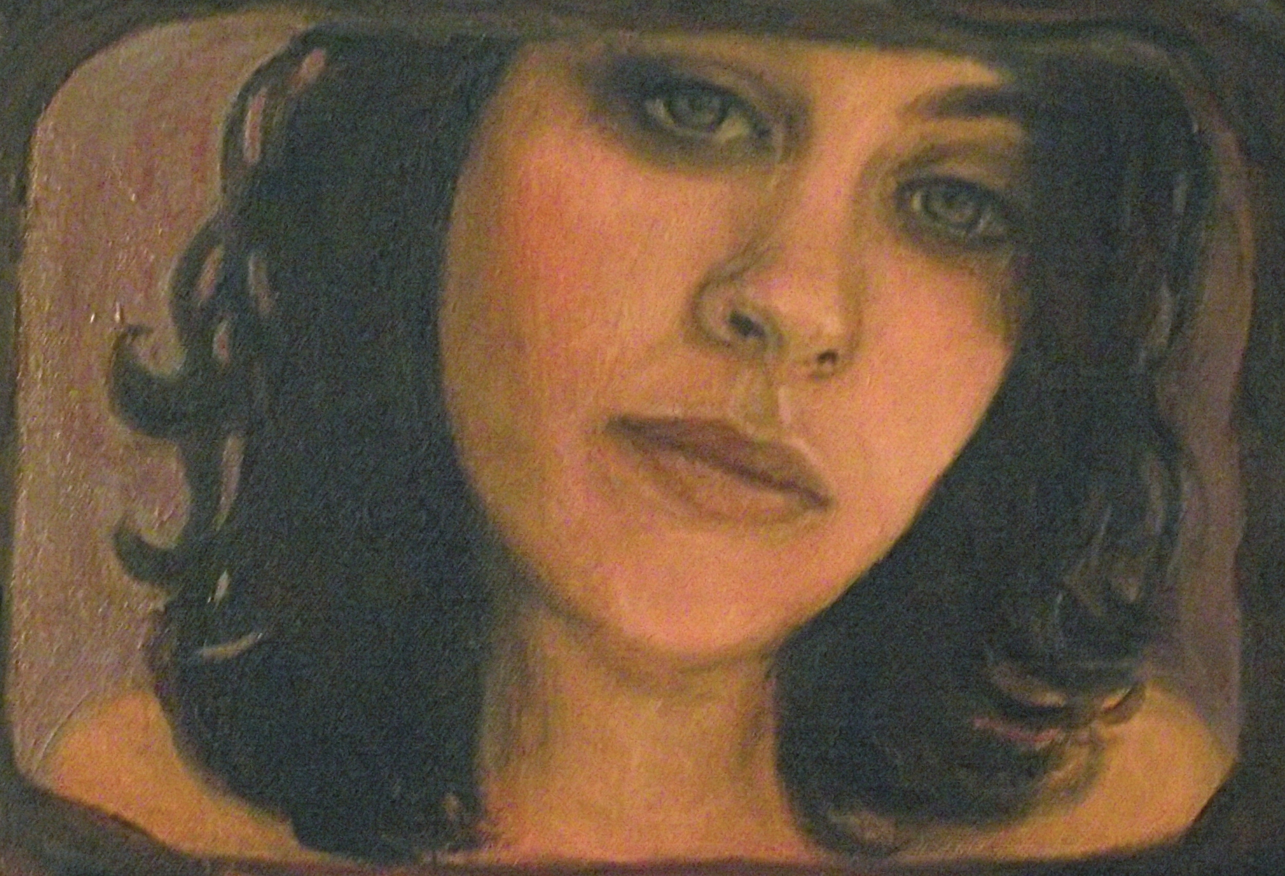 self-portrait, oil & acrylic, 2010